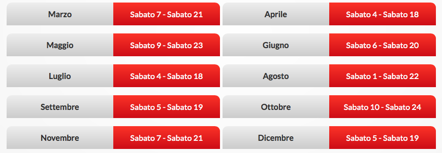 Calendario-weekendsalute